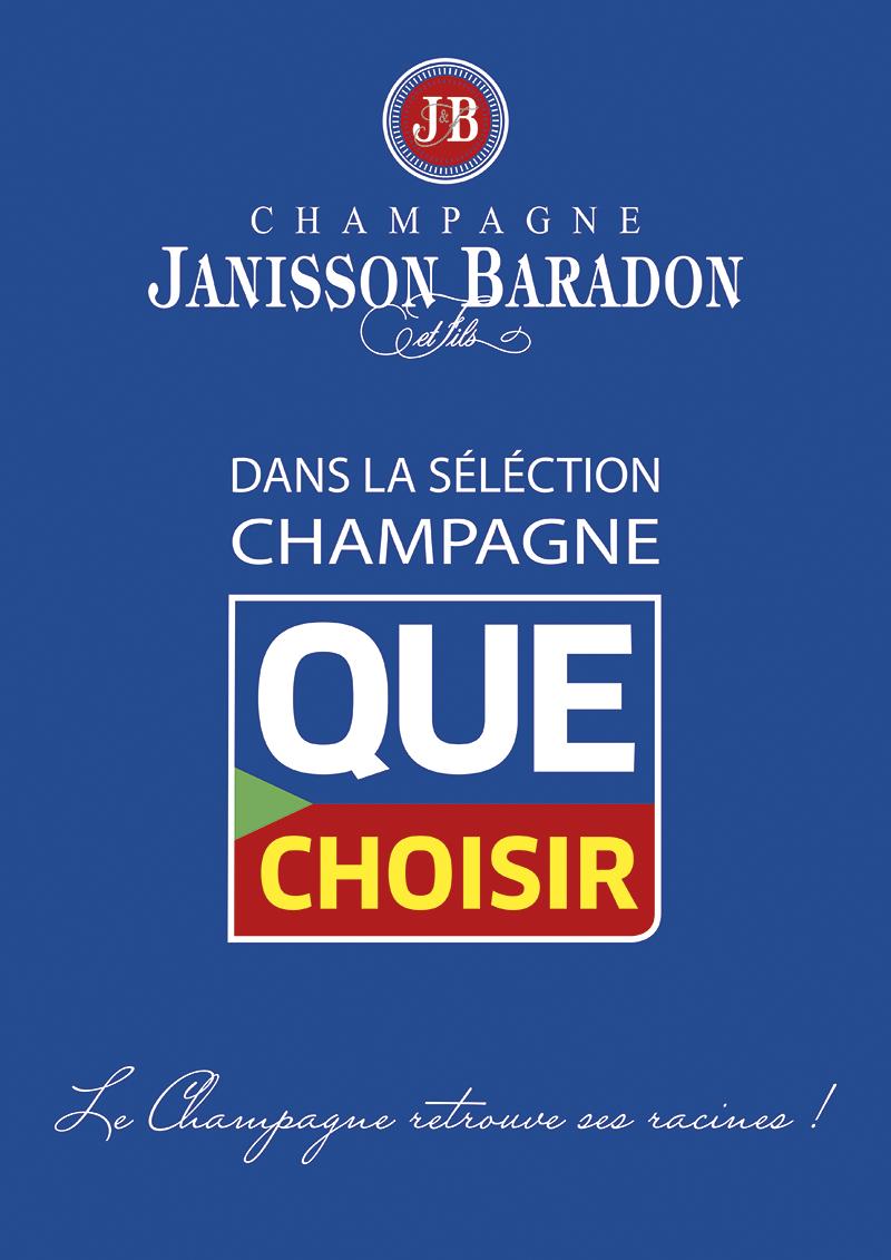 Champagne Janisson Baradon dans la séléction champagne Que Choisir